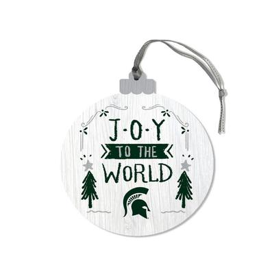 Michigan State Legacy Joy to the World Round Ornament