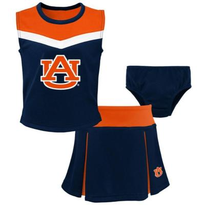Auburn Toddler Spirit 2 Piece Cheerleader Set