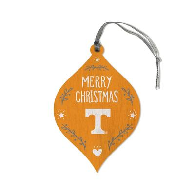 Tennessee Legacy Merry Christmas Teardrop Ornament