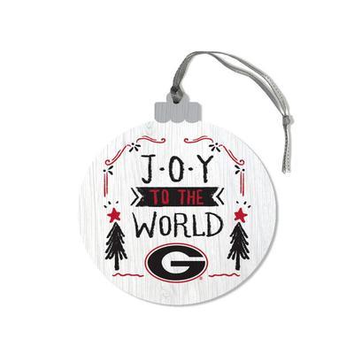 Georgia Legacy Joy to the World Round Ornament