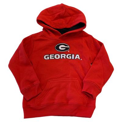Georgia Toddler Team Color Pullover Hoodie