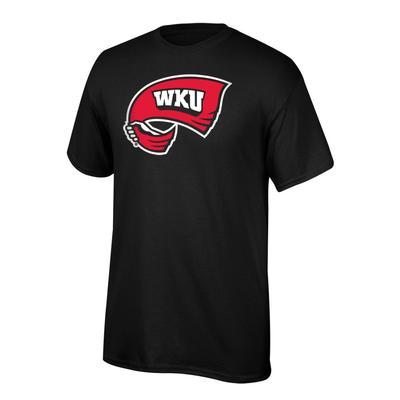 Western Kentucky Youth Giant Towel Logo Tee Shirt BLACK
