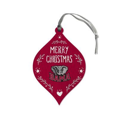 Alabama Legacy Merry Christmas Teardrop Ornament