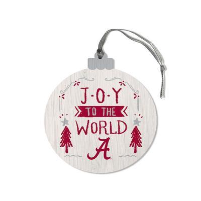 Alabama Legacy Joy to the World Round Ornament