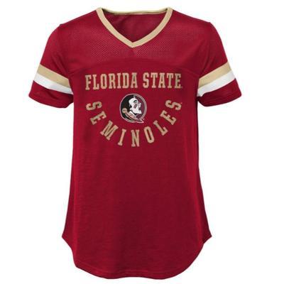 Florida State Florida State Youth Girls' Game Plan S/S Football Top
