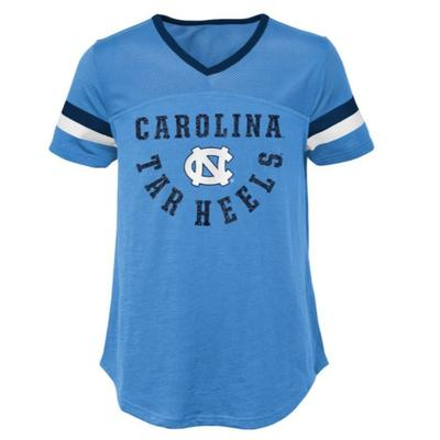 UNC Youth Girls' Game Plan S/S Football Top