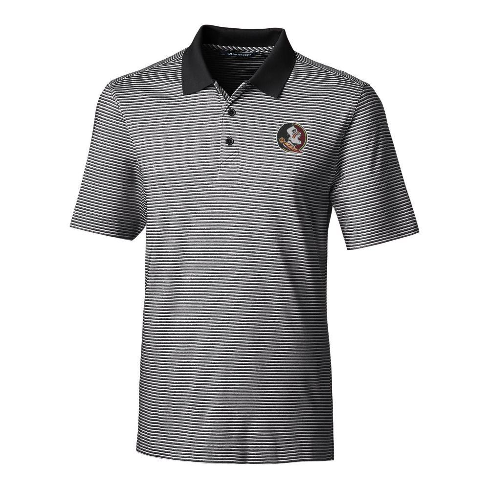 Florida State Cutter & Buck Big And Tall Forge Stripe Polo *** Custom Order ***