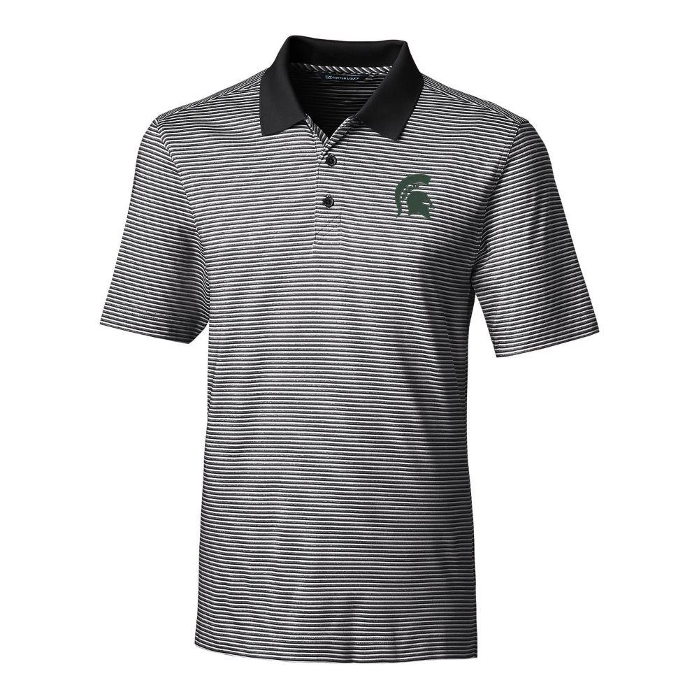 Michigan State Cutter & Buck Big And Tall Forge Stripe Polo *** Custom Order ***