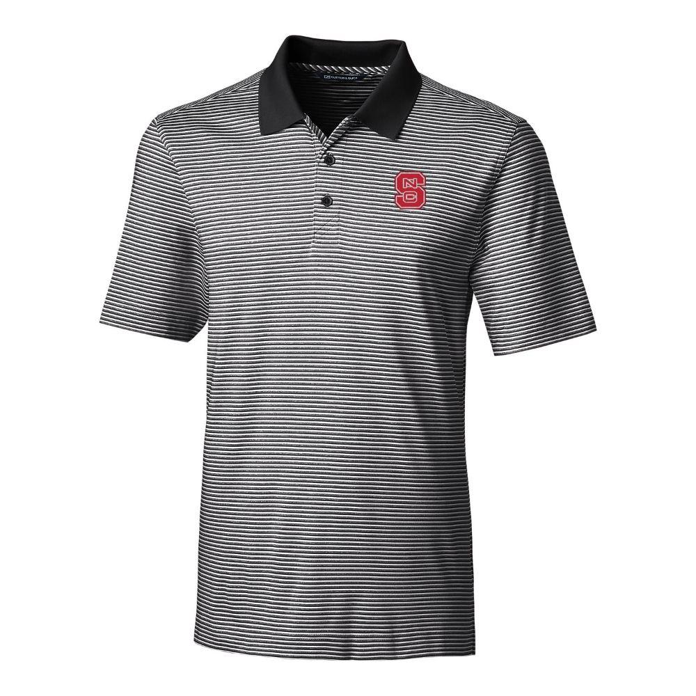 Nc State Cutter & Buck Big And Tall Forge Stripe Polo *** Custom Order ***