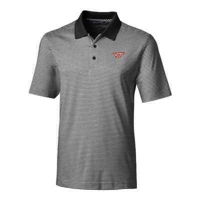Virginia Tech Cutter & Buck Big and Tall Forge Stripe Polo