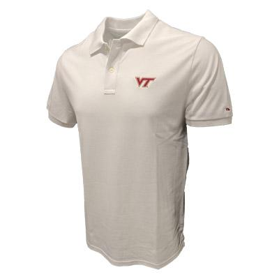 Virginia Tech Vineyard Vines Stretch Pique Polo