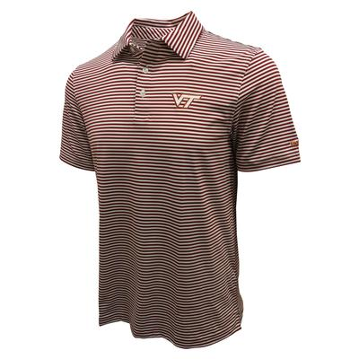 Virginia Tech Vineyard Vines Winstead Stripe Polo