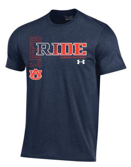 Auburn Football Under Armour Let's Ride Short Sleeve Tee