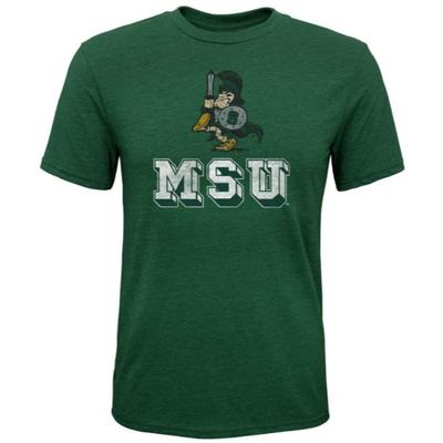 Michigan State Sparty Youth Tri-Blend S/S Tee