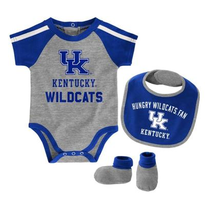 Kentucky Creeper, Bib, Bootie Set