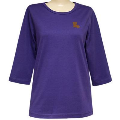 Purple Nitro 3/4 Sleeve Gold State Top - Plus Sizes