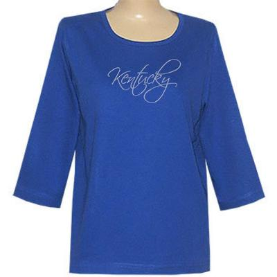 Kentucky Nitro 3/4 Sleeve Script Top - Plus Sizes