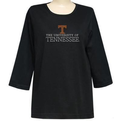 Tennessee Nitro 3/4 Sleeve University Top - Plus Sizes