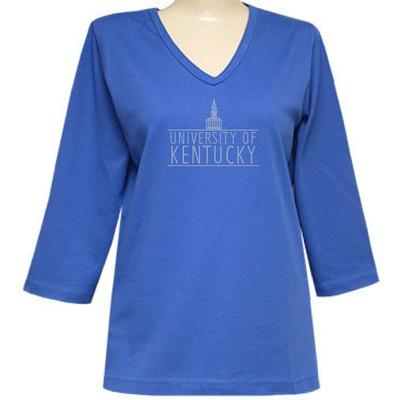 Kentucky Nitro 3/4 Sleeve V Neck Top - Plus Sizes