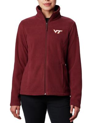 Virginia Tech Columbia Women's Give and Go Full Zip Jacket - Plus Sizes