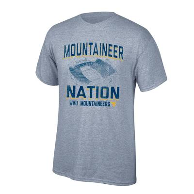 West Virginia Mountaineer Nation Stadium Tee Shirt