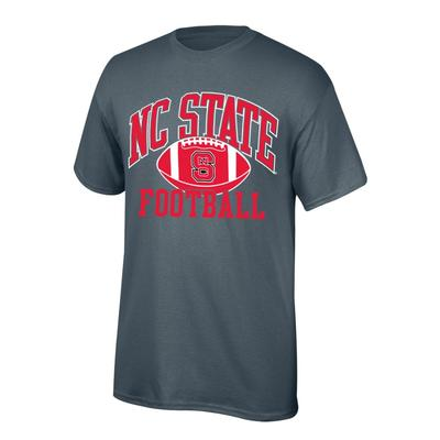 NC State Youth NC State Football Tee Shirt GRAPHITE