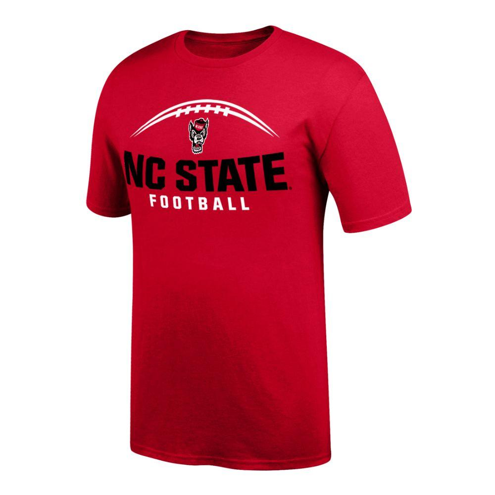 Nc State Laces Nc State Football Tee Shirt