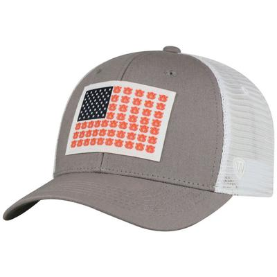 Auburn Canvas Flex Flag Trucker Hat