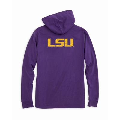 LSU Southern Tide Distressed Game Day Hoodie