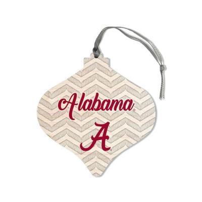 Alabama Legacy Chevron Bulb Ornament