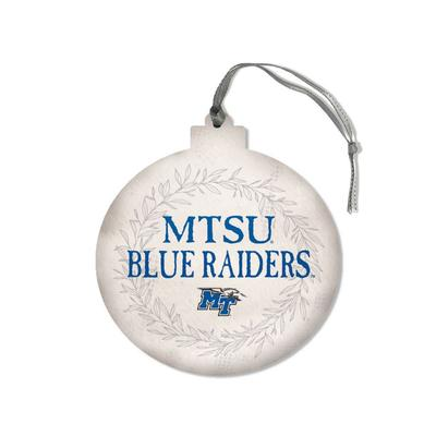 MTSU Legacy Laurel's Round Ornament