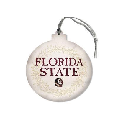 FSU Legacy Laurel's Round Ornament