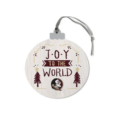 FSU Legacy Joy to the World Round Ornament