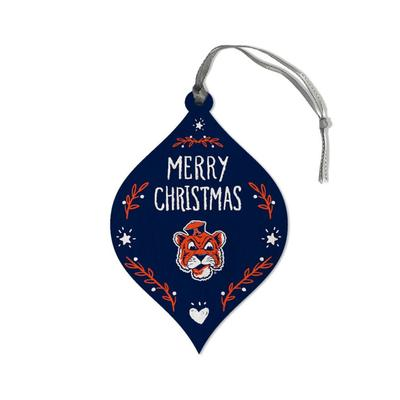 Auburn Legacy Merry Christmas Teardrop Ornament