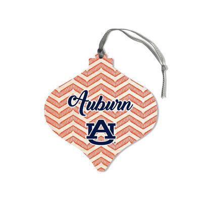 Auburn Legacy Chevron Bulb Ornament