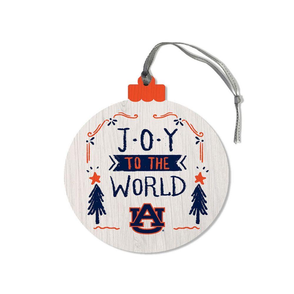 Auburn Legacy Joy To The World Round Ornament