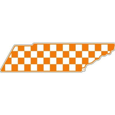 Tennessee Decal New Checkerboard State Outline 6