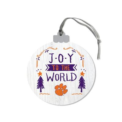 Clemson Legacy Joy to the World Round Ornament
