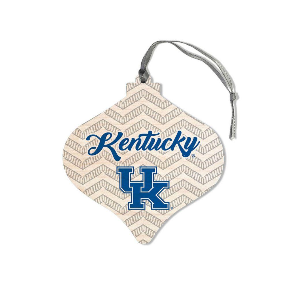Kentucky Legacy Chevron Bulb Ornament