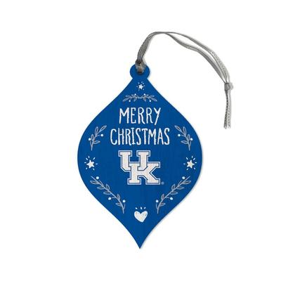 Kentucky Legacy Merry Christmas Teardrop Ornament