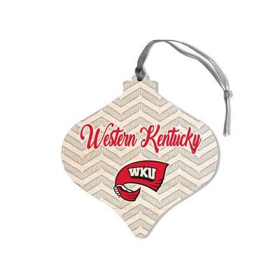 Western Kentucky Legacy Chevron Bulb Ornament