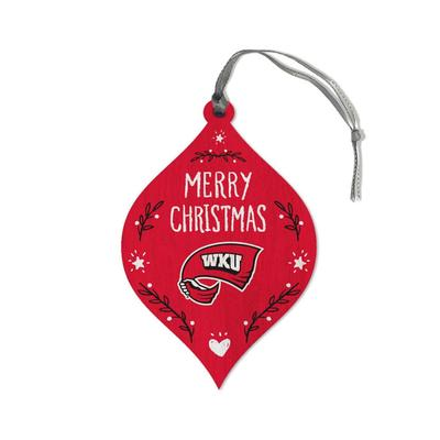 Western Kentucky Legacy Merry Christmas Ornament