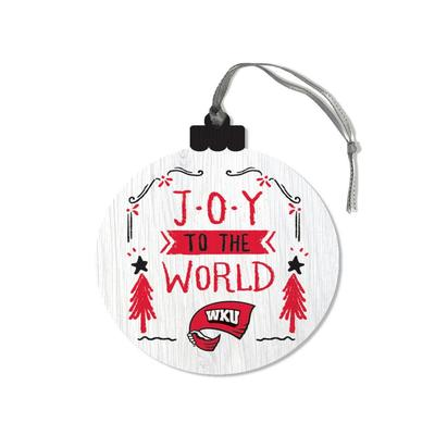 Western Kentucky Legacy Joy to the World Round Ornament