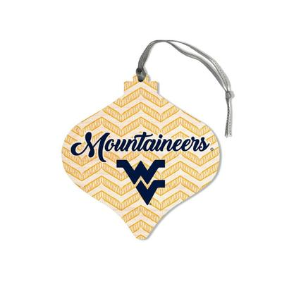 West Virginia Legacy Chevron Bulb Ornament
