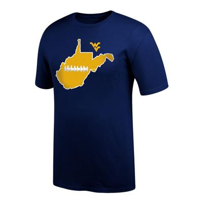 West Virginia State with Football Laces Tee Shirt