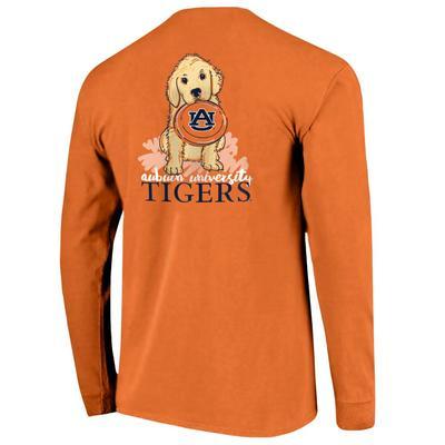 Auburn Comfort Colors L/S Frisbee Dog Tee