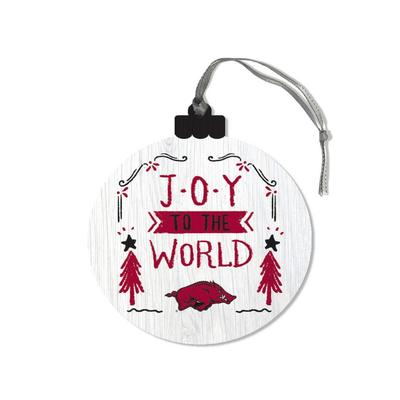 Arkansas Legacy Joy to the World Round Ornament
