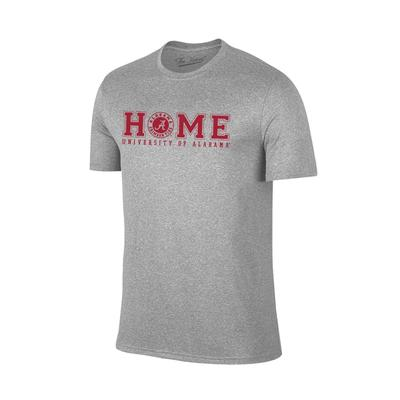 Alabama Women's Home with Badge Logo Tee Shirt GREY