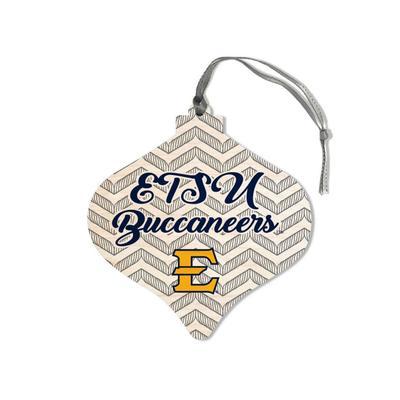 ETSU Legacy Chevron Bulb Ornament
