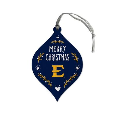 ETSU Legacy Merry Christmas Teardrop Ornament